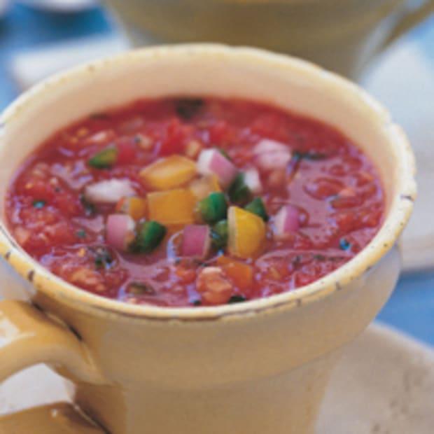 Garden Gazpacho with White Beans