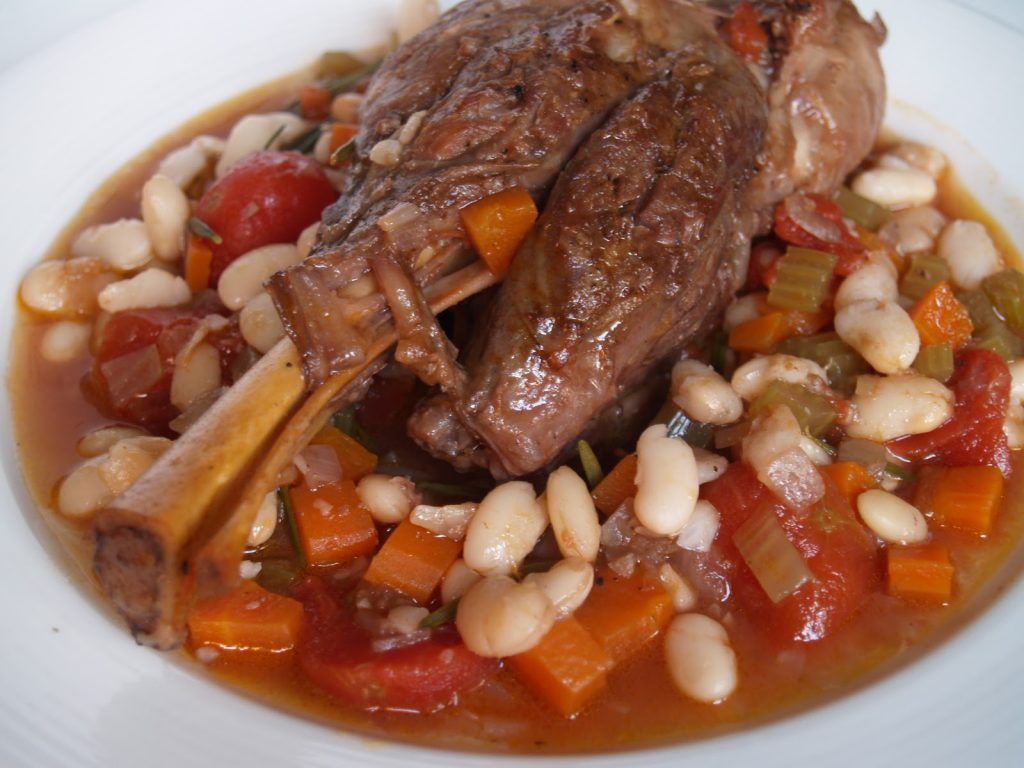 Oven-Braised Lamb Shanks and White Beans
