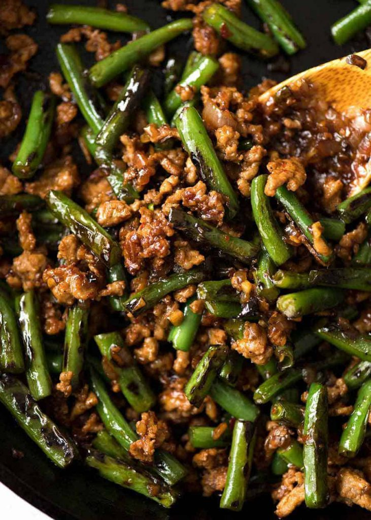 Pork Stir-Fry with Green Beans and Peanuts