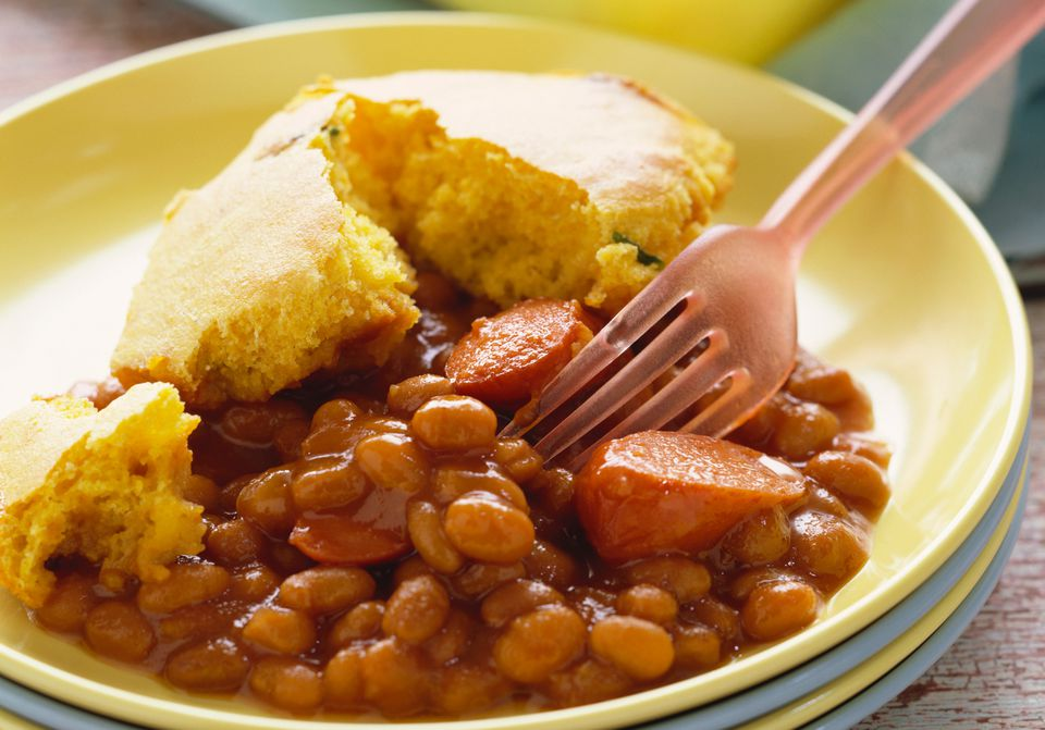 Easy BBQ Beans and Franks