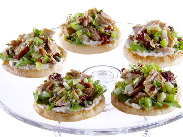 Herbed White Bean Spread Open-Faced Sandwiches