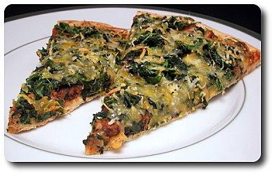 Mexican Black Bean & Spinach Pizza