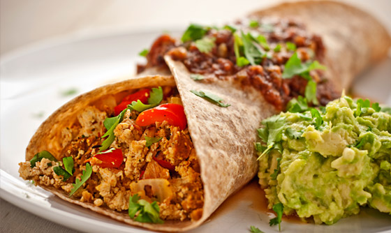 Spicy Breakfast Burritos